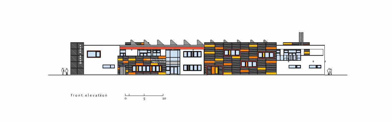 Front Elevation Designs For Schools : Park brow community primary school imagine design
